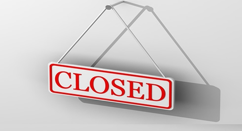 Are you closed for business due to property maintenance issues?
